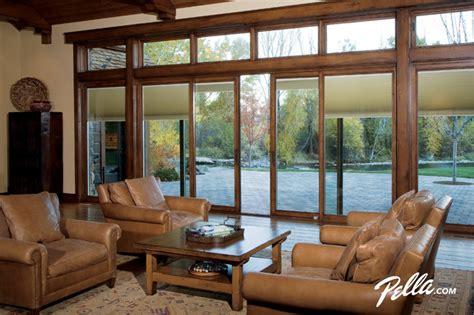 living room layout with patio doors pella 174 designer series 174 sliding patio door provides design