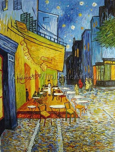 oil paintings global wholesale art vincent van gogh cafe terrace at night oil paintings