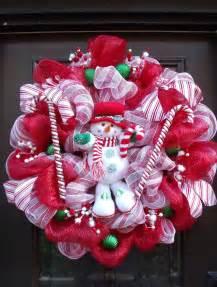 christmas deco mesh wreath christmas wreaths snowman wreath