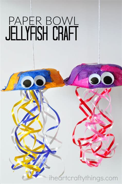 Paper N Craft - colorful jellyfish craft for i crafty things