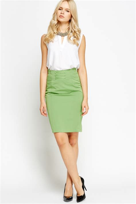 high waisted formal pencil skirt just 163 5