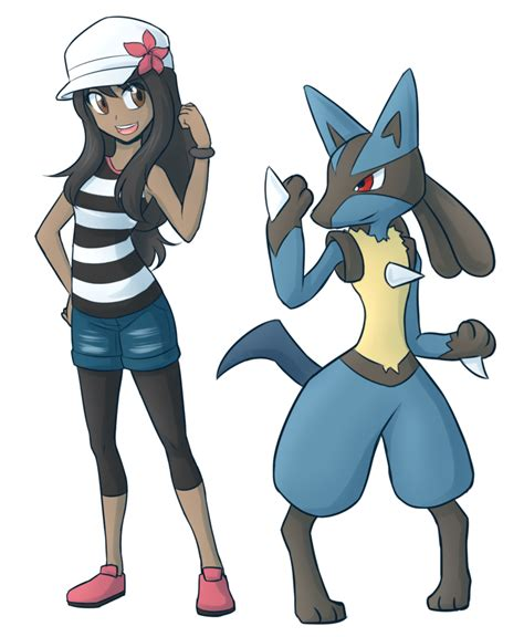 and trainer trainer steph and lucario by sabasse on deviantart