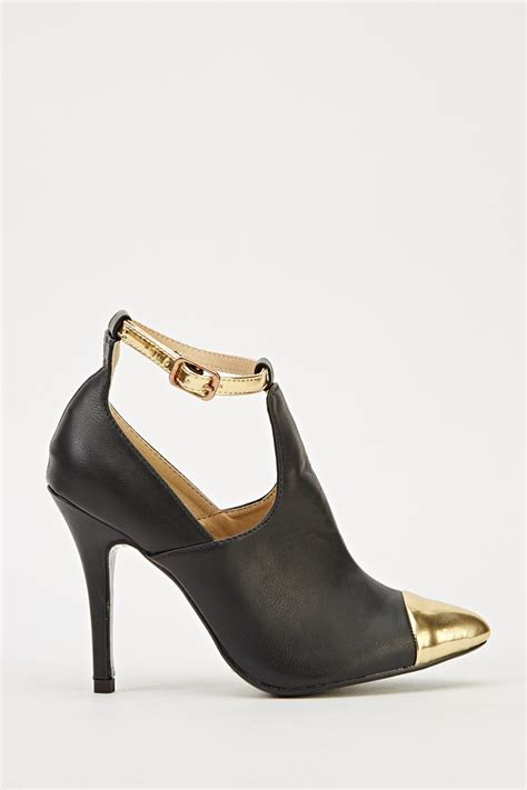 sandal heels with ankle faux leather court ankle sandal heel just 163 5