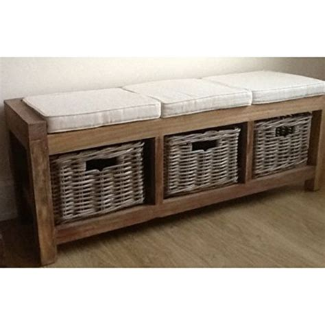 wicker shoe storage reclaimed teak seat with kubu wicker shoe storage
