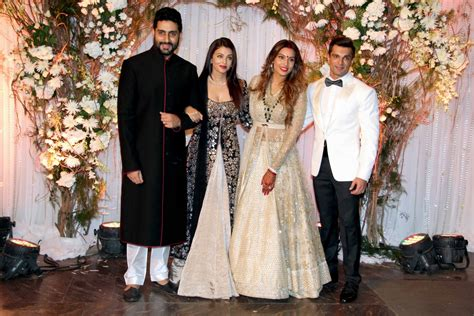 Aishwarya Post Wedding Ceremony by Bipasha Karan Wedding Reception Salman Aishwarya Shah