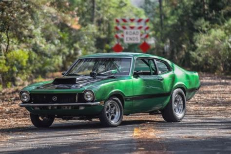 green ford maverick 1970 ford maverick hotrod turbo 800hp