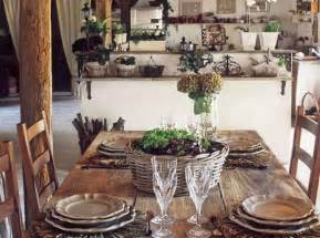 room rustic wood dining table