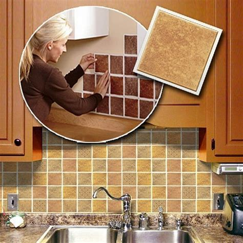 self adhesive backsplash tiles save money on kitchen renovation