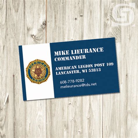 American Legion Business Card Templates american legion business cards arts arts
