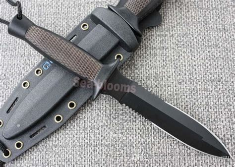 sog combat knife sog d25 daggert 2 fixed blade knife serrated d25t fixation