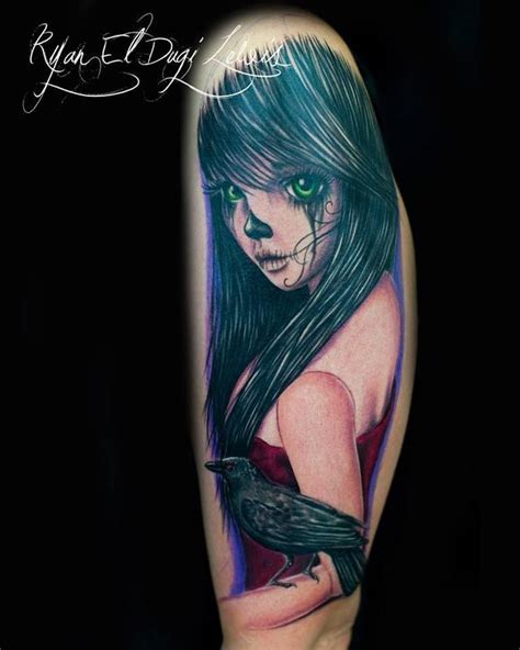 mexican rag doll tattoo day of the dead doll by el dugi lewis tattoonow