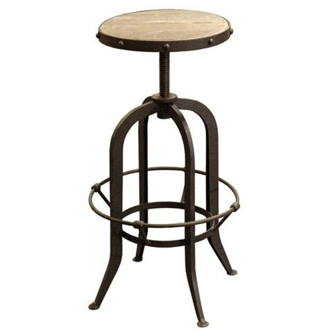 vintage steel industrial modern counter stool kathy kuo home bryan industrial loft retro rustic pine swivel bar counter