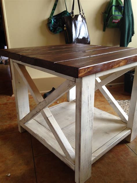 ana white step up side table diy projects ana white the rustic x side table diy projects