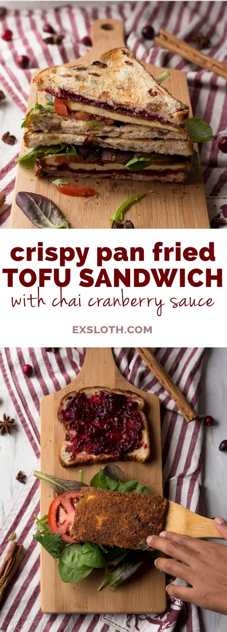Want Ultracrisp Pizza Try Pan Frying It by Crispy Pan Fried Tofu Sandwich With Chai Cranberry Sauce