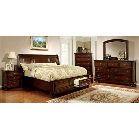 california king bedroom furniture set furniture of america caiden 4 piece california king