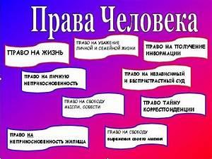 Права человека таблица по обществу 9 класс