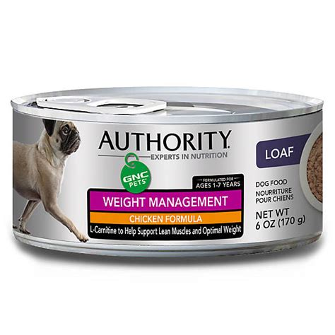 weight management canned food authority 174 gnc pets food chicken weight