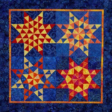 free pattern batik quilt batik triangle stars allpeoplequilt com