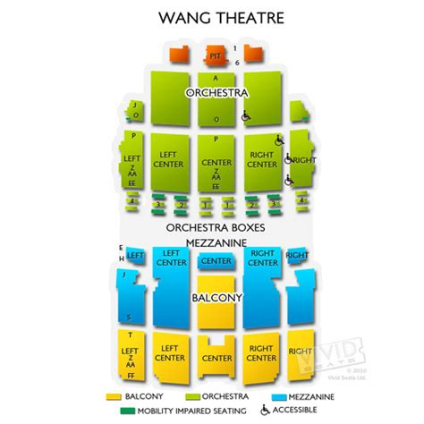 Create Interactive Floor Plan by Wang Theatre Tickets Wang Theatre Seating Chart Vivid