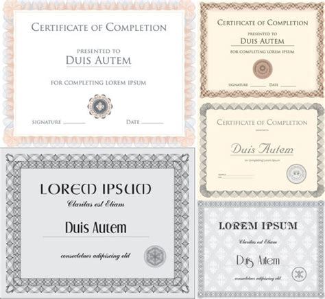 certificate template vector free vector in encapsulated