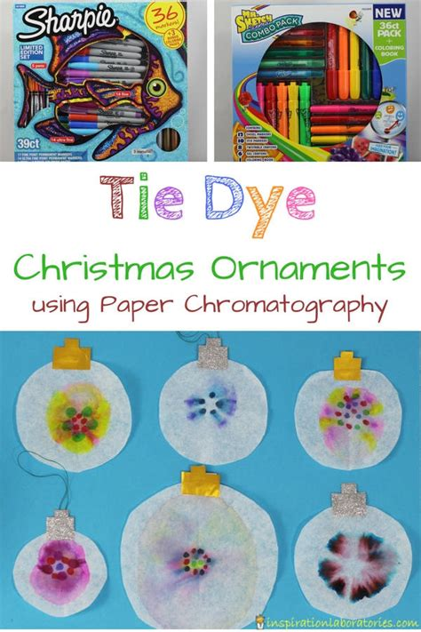 chromatography tie dye ornaments inspiration