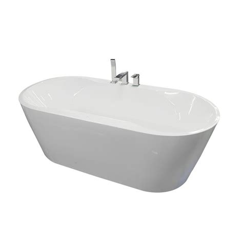 freestanding bathtub home depot valley hansal freestanding bathtub in white the home