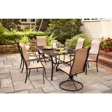 7pc Patio Dining Set Hton Bay Amica 7 Patio Dining Set Xss 1754 The Home Depot