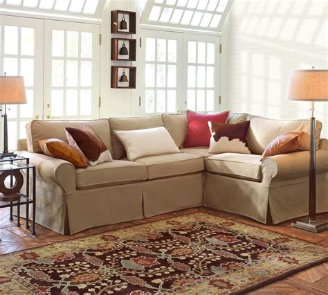 pottery barn 3 piece sectional pottery barn sectional sofas pb comfort roll arm