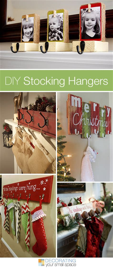 diy stocking hangers  weeks  holiday diy week