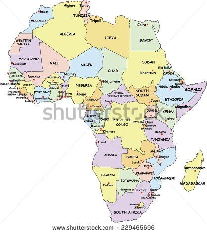 map of africa with country name maps of kenya and somalia stock photos images pictures