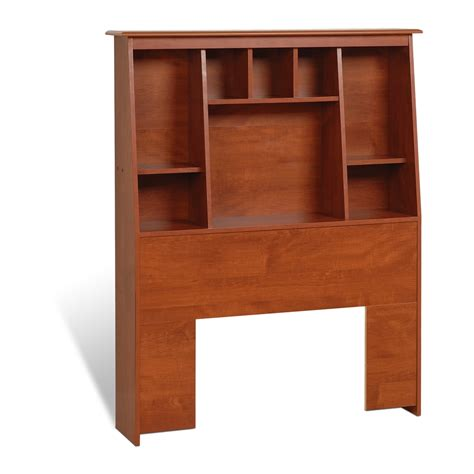 tall twin headboard prepac cherry twin tall slant back bookcase headboard