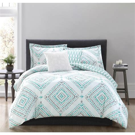 teal comforter sets full studio 17 jericho teal 5 piece full queen comforter set