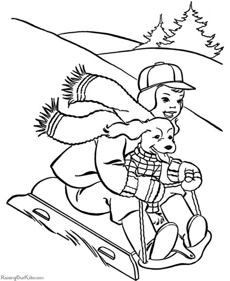 coloring pages dogs christmas christmas coloring pages dog riding sled