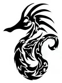 seahorse tribal tattoo tribal seahorse finished clipart best clipart best