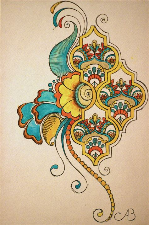 paisley motif by stickyriceplatter on deviantart