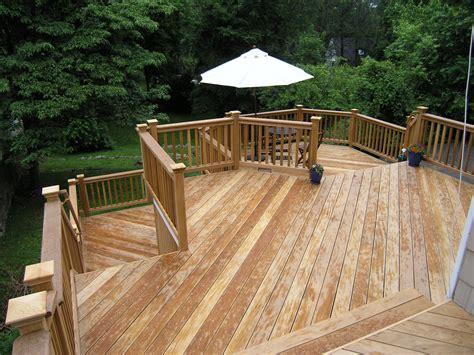 Cos Cob Natural Wood Deck Completed   Wood decks, Natural
