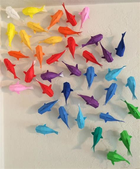 How To Make An Origami Koi Fish Step By Step - wall of rainbow koi 183 how to fold an origami fish