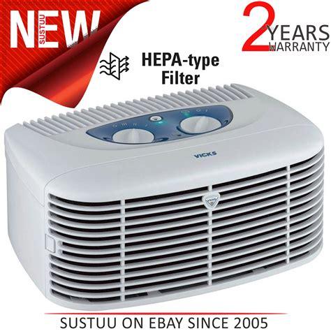 vicks  hepa filter ionizer type air purifierfreshner