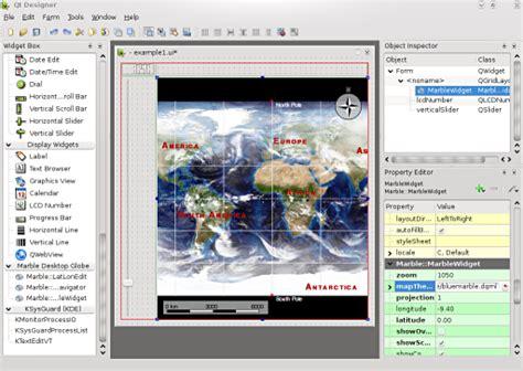 qt designer layout ratio marble marbledesigner kde techbase
