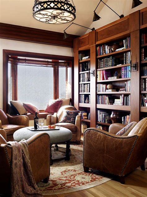 1000 ideas about home library design on home