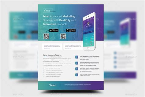 free product promotion flyer psd template