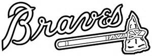 atlanta braves logo black sketch coloring page