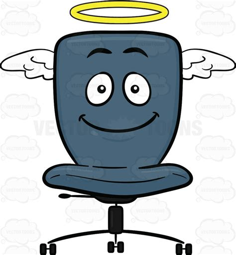 Chair With Backrest by Angelic Looking Swivel Desk Chair Cartoon Clipart Vector