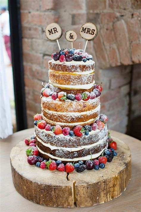 Totally Rustic Wedding Cakes Which Present a Variety of