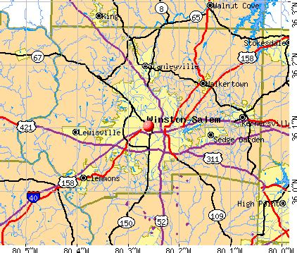 winston salem carolina nc profile population