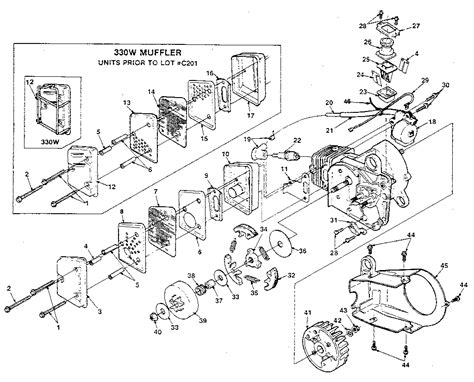 homelite chainsaw parts diagram my homelite textron chain saw seems to a a clutch