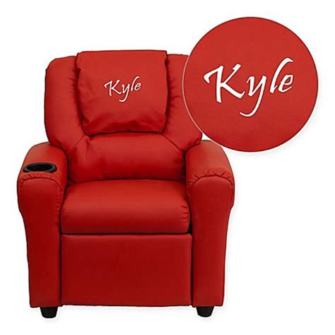 personalized recliners for toddlers buy flash furniture personalized kids recliner in red from