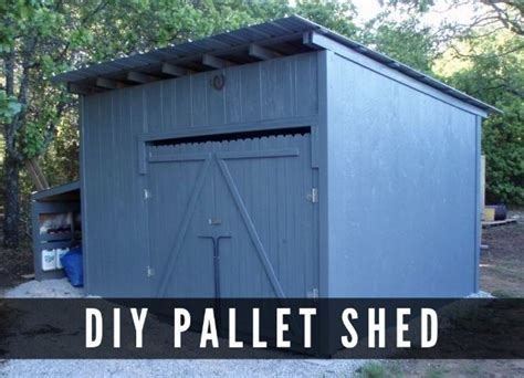 Building A Shed On A Budget by Diy Pallet Shed