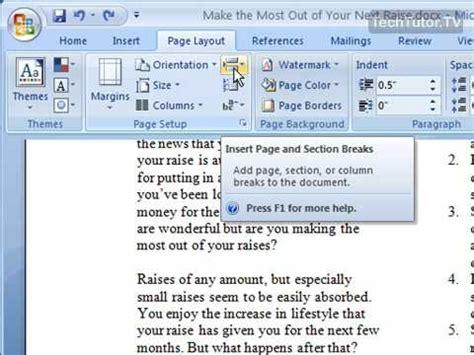insert a column in word 2007