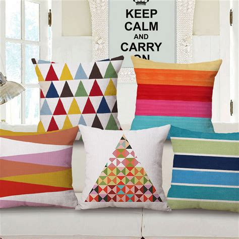 coussin rehausseur chaise geometric decorative pillows with filling for sofa coussin chaise bureau colorful chair